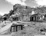 Abandoned mine buildings in Kennicott, 1953.