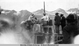 Rock drilling contest Valdez, Alaska, July 4, 1915.