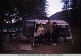 Bunny McNutt and others at camp site.