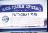 Earthquake Park sign.
