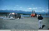 Debris to be used for fire exercise.