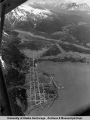 Aerial of Seward and vicinity, 1940's.