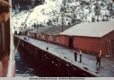 Alaska Railroad dock, Seward, 1945.