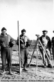 Surveying runway at Army Air Base, Galena 1944-1945.
