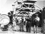 German band on Anchorage dock.