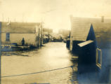 Flooded street in Nome, Alaska