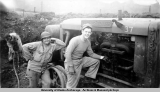 "Joe Antic & ""Mill"" Plum, Aleutians, Aug. 44 [1944]."