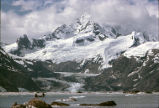 Johns Hopkins Glacier and Johns Hopkins Inlet, Glacier Bay, Alaska, July 1, 1963.