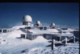 View of radomes at White Alice Communications site on Resolution Island, Nunavut.