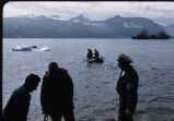 Men and boats at Baffin Island.