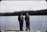 Men at lake in southcentral Alaska.