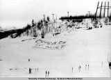 Looking west from the top of Watertank Hill, Chugach Ski Meet, 1941.