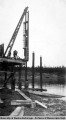 Construction of Liard River bridge, 1942-1943.