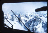 View of mountains from cockpit.
