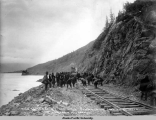 Mile 78-79 A.E.C. R[ailwa]y, Sep. 11, 1918, connecting the Gov't. R[ail]r[oad] between Seward...