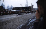 Fur Rendezvous dog sled race, Anchorage, Alaska.