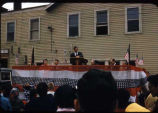 Gov[ernor] of Alaska giving 4th of July speech at Nome, 7/4/57