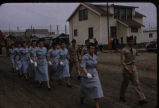 Part of parade in Nome, 7/4/57.