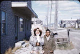 Eskimo man & wife at Nome, Sept. 1955.