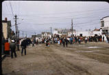 4th of July celebration in street at Nome.