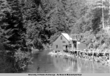 Sitka Power House on Medvetcha River, ca. 1941-1943.