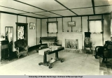 Lounge, Upper Tonsina Hunting Lodge, October 5, 1935.