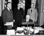 Fish Trap Tax bill signing, February 1949.