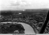 Fairbanks from air, looking southwest [summer 1936].