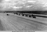 Preparing ground for airstrip, 26-Mile Airbase, circa 1943-1944.