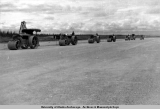 Rolling for new air strip in 1947.