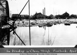 Ice breakup in Chena slough Fairbanks April 1929.