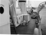 The steel decks of the Ariadne.