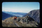 Hikers on Mount Roberts, Juneau, AK.