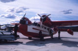 Grumman amphibious airplane an airport in Alaska.