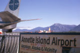 Sign at Annette Island Airport, 1962.
