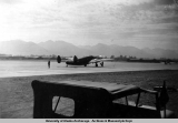Airplane on runway at Elmendorf Field, 1942-1944.