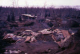 Destroyed homes in Turnagain Bluff area.