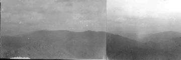 "Panorama from triangulation station named ""Reaburn"" or Slide Mountain."