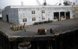 Military Band waiting in Whittier, Alaska