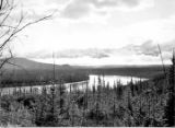 Alaska Highway. Tanana River near Cathedral Bluffs—view northeast m. 1859.