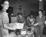 Alaska Nurses Association Food Sale - Ann Duncan, Ethel Ghezzi, and Betty Buchanan.