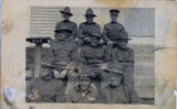 Group portrait of servicemen at Ft. Davis.