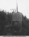 Signs at Alberta-British Columbia Boundary, 1949.