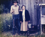 Harold and Roxy Pomeroy at their Bear Cove homestead, circa 1975.