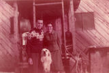 Harold and Roxy Pomeroy and their dog.