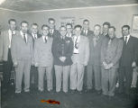 Harold Pomeroy with members of the Alaska Territorial Civil Defense and the Big Delta Volunteer...