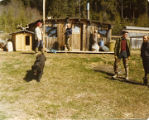 Harold Pomeroy and others at the Maumiere homestead on Bear Cove.