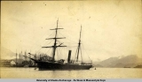 U.S. Revenue cutter Richard Rush in Sitka Harbor, 1880-1885.