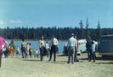 Harold Pomeroy and others at the Kenai River near Soldotna.