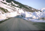 Avalanche on Seward Highway after 1964 earthquake.